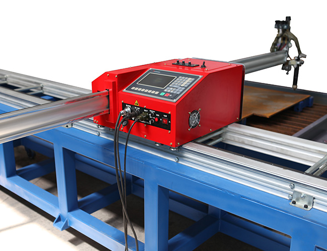 Small HNC-1800W portable mini CNC plasma and flame cutting machine cutter image