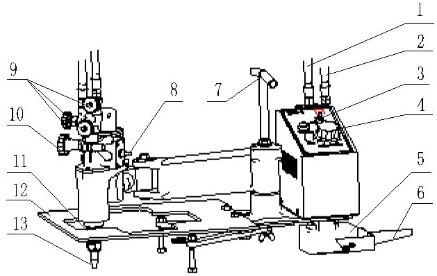 kmq-1 portable profiling flame cutting machine