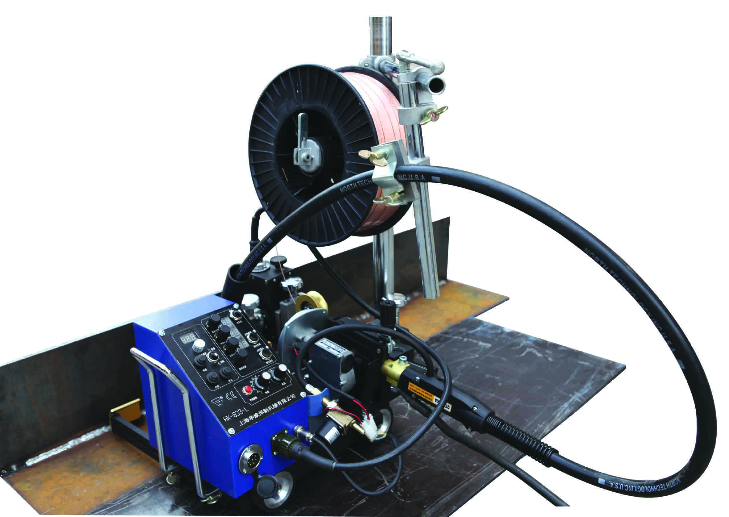 Small HK-8SS-L Light automatic welding carriage with wire feeder for fillet weld image