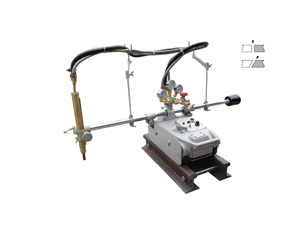 Small CG1-75 Track guide straight oxy-fuel gas cutting machine for thick plate heavy board cut image