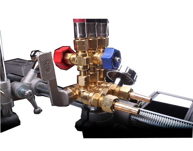 Small CG1-30 Straight line track guide flame gas cutter oxy-fuel cutting machine image