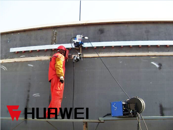 Small HK-100S Flexible Rails Track Pipe Tank Welding Tractor with Oscillate Torch Holder image